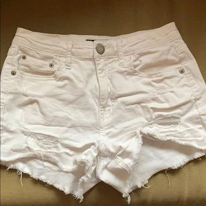 White washed jean shorts from Aeropostale
